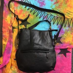 Bed Stu Cobbler Tahiti Foldover Crossbody Bag Blk